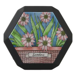 Haut-parleurs Noirs Sans-fils Pot de fleurs