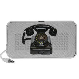 Haut-parleurs vintages de griffonnage de téléphone
