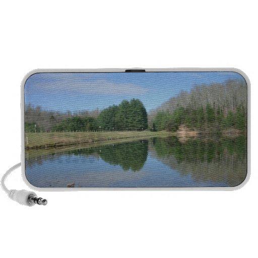 Haut-parleurs vitreux de lac