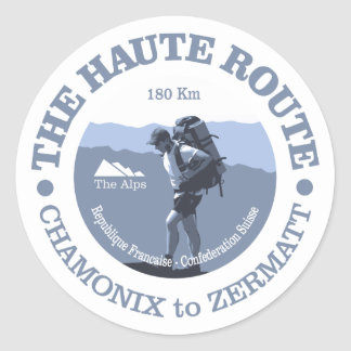 Haute Route Classic Round Sticker