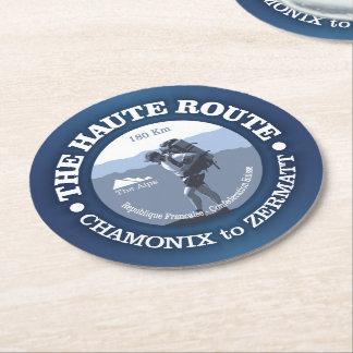 Haute Route Round Paper Coaster