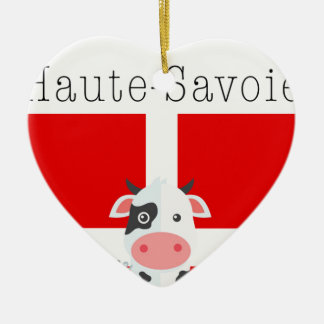 Haute-Savoie Cow Dble-Sided Ceramic Ornament