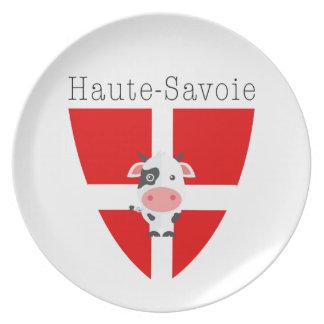 Haute-Savoie Cow Melamine Plate