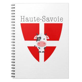 Haute-Savoie Cow Notebook