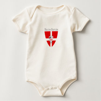 Haute-Savoie Cow Organic Short-Sleeved Vest Baby Bodysuit