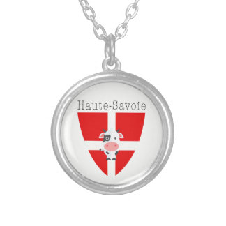 Haute-Savoie Cow Silver Plated Necklace