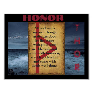 Havamal Honor Poster