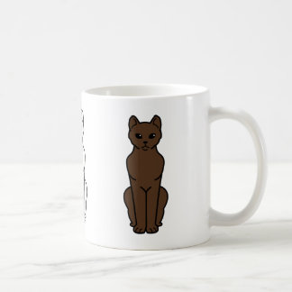 Havana Brown Cat Cartoon Coffee Mug