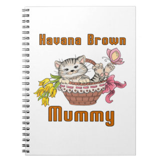 Havana Brown Cat Mom Spiral Notebook