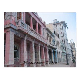 havana buildings post card