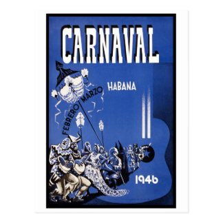 Havana Carnival 1946 Vintage Travel Postcard
