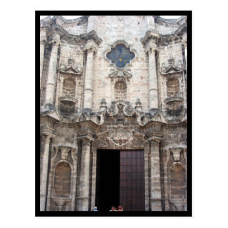 havana cathedral post card
