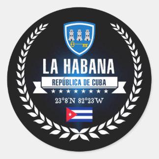 Havana Classic Round Sticker