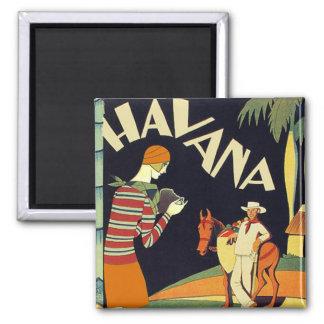 Havana Cuba Art Deco Cover Vintage Art Magnet