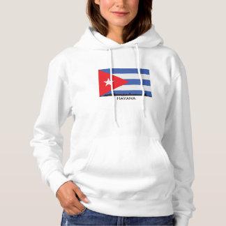Havana Cuba Skyline Cuban Flag Hoodie