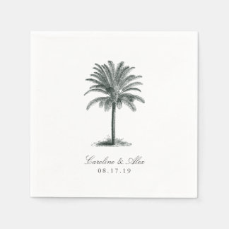 Havana Palm Wedding Disposable Napkins