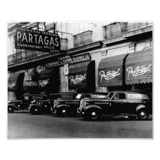 Havana Partagas Retro 1957 Photo Print