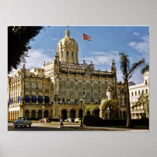 Havana Presidential Palace 1956 Poster