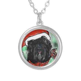 Havana Silk Dog Silver Plated Necklace