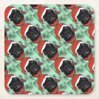 Havana Silk Dog Square Paper Coaster