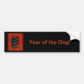 Havana Silk Dog Year of the Dog Bumper Sticker