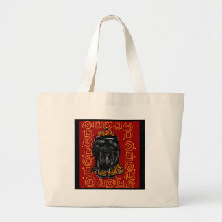 Havana Silk Dog Year of the Dog Large Tote Bag