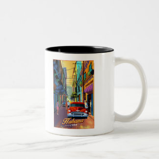 Havana Street scene Two-Tone Coffee Mug