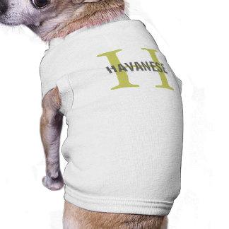 Havanese Breed Monogram Design Dog T Shirt