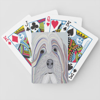 Havanese Denim Colors Bicycle Playing Cards