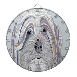 Havanese Denim Colors Dartboard