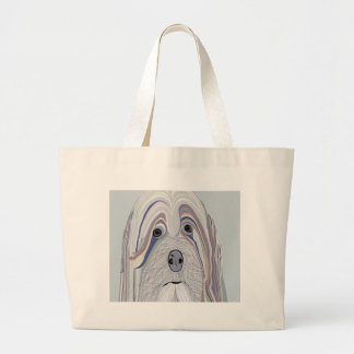 Havanese Denim Colors Large Tote Bag