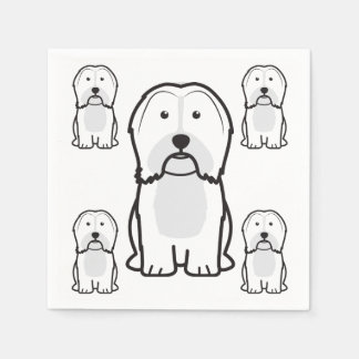 Havanese Dog Cartoon Paper Napkin