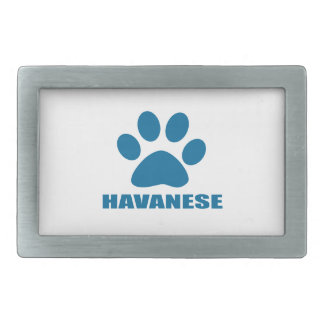 HAVANESE DOG DESIGNS BELT BUCKLE