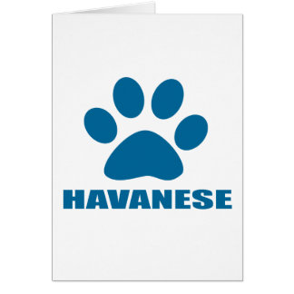 HAVANESE DOG DESIGNS CARD