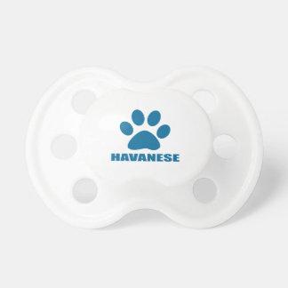 HAVANESE DOG DESIGNS PACIFIER
