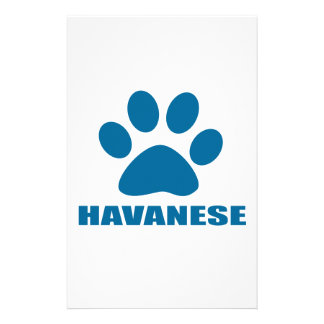 HAVANESE DOG DESIGNS STATIONERY