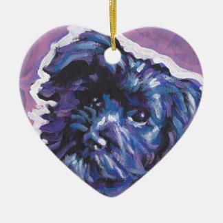 Havanese Dog fun pop art Ceramic Ornament