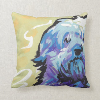 Havanese Dog fun pop art Throw Pillow