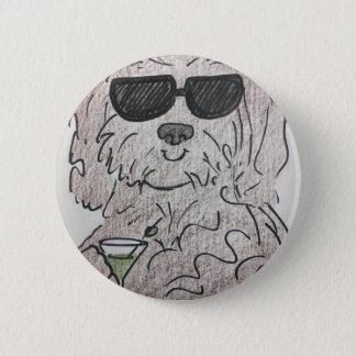 Havanese dog martini 2 inch round button
