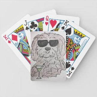 Havanese dog martini bicycle playing cards