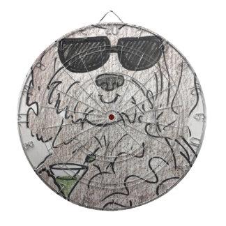 Havanese dog martini dart boards
