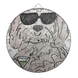Havanese dog martini dartboard