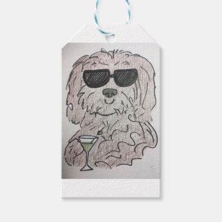 Havanese dog martini gift tags