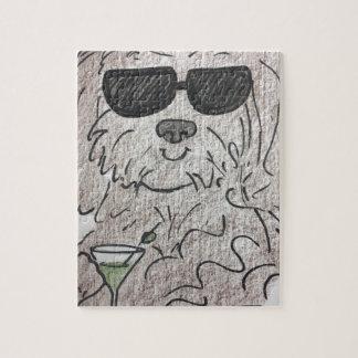 Havanese dog martini jigsaw puzzle