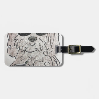 Havanese dog martini luggage tag
