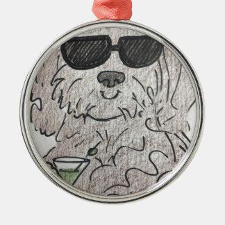 Havanese dog martini metal ornament