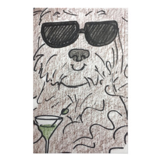 Havanese dog martini stationery