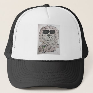 Havanese dog martini trucker hat