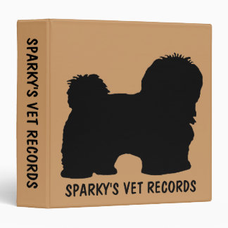 Havanese Dog Vet Records Binder