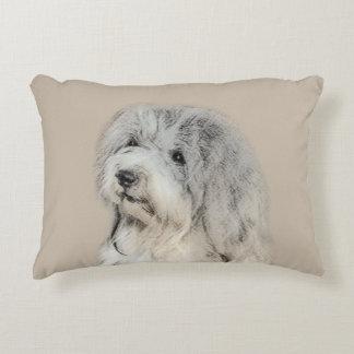 Havanese (Gold Sable) Painting - Original Dog Art Accent Pillow